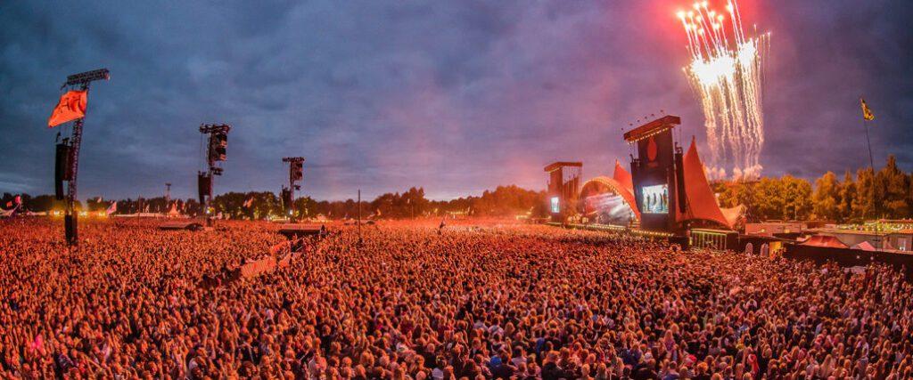 Roskilde music festival, Denmark