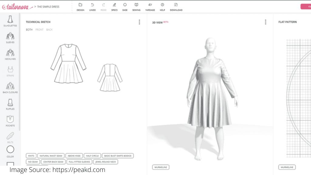 Tailornova fashion design software