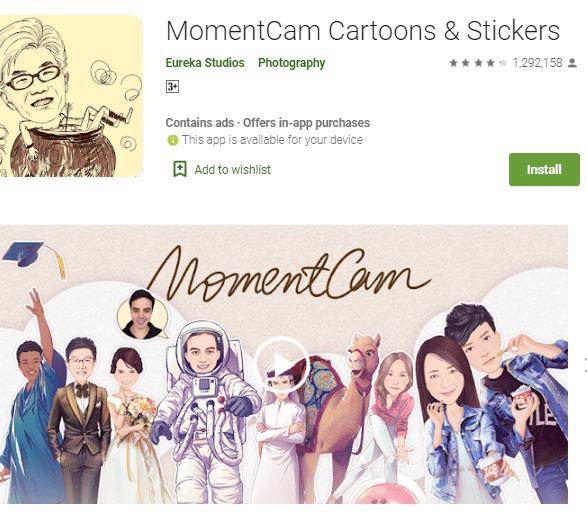 MomentCam Cartoons & Stickers